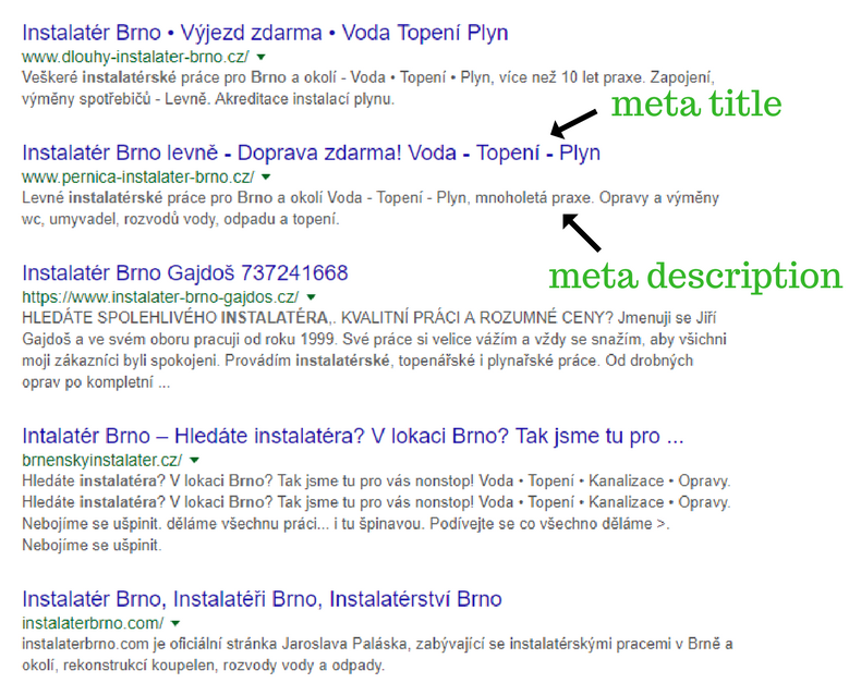 meta title a meta description