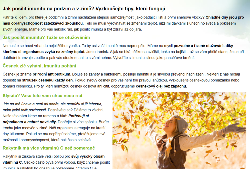 ukázka článku pro blog