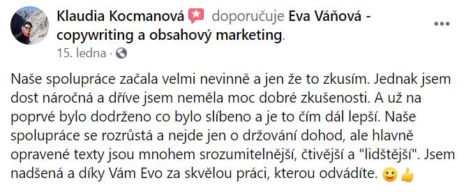 Eva Váňová reference